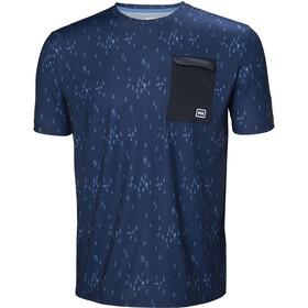 Helly Hansen Lomma T-paita Miehet, catalina blue print